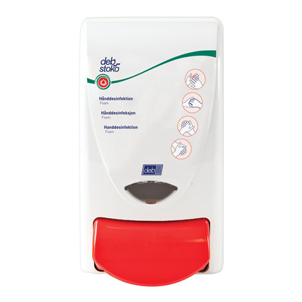 Dispenser Deb Stoko Sanitise 1L hvid m/rød