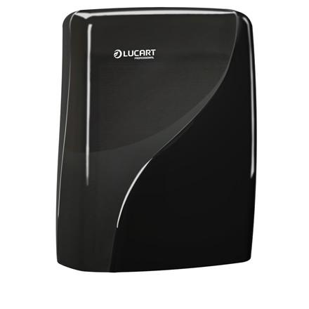Dispenser, Identity, til alle typer håndklædeark, sort, 30,50 cm x