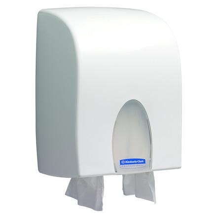 Dispenser, Kimberly Clark, til interfold håndklædeark, hvid, maxi,
