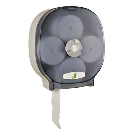 Dispenser, Neutral, til 4 ruller  toiletpapir uden hylse, røgfarvet,