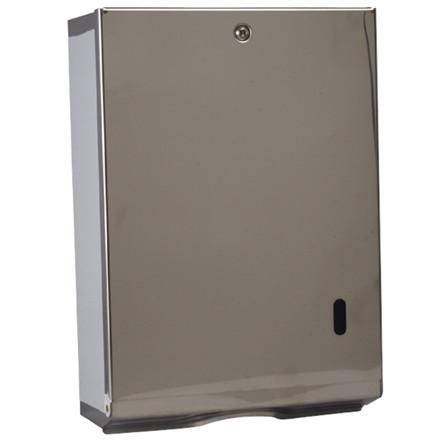 Dispenser, Neutral, til alle typer håndklædeark, stålgrå, maxi,