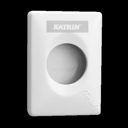 Katrin 91875 Hygiene Bag Holder Dispenser - til hygiejneposer - Hvid plast