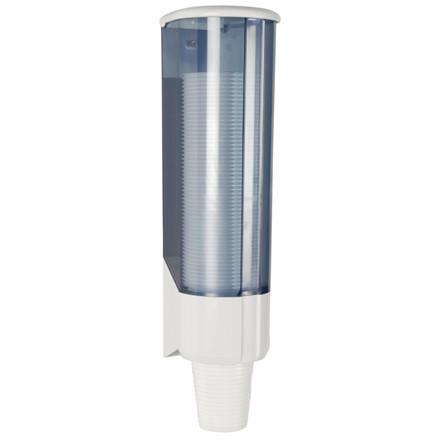 Dispenser til drikkebæger, hvid, til 21cl plastikbægre, ABS