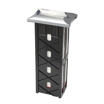 Dispenser til servietter, Tork Expressnap N4 Signature Line, grå, plast,