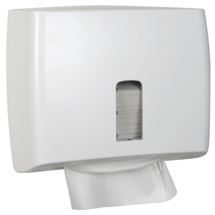Dispenser, White Classic, til nonstop håndklædeark, hvid, mini, 30,50 cm x