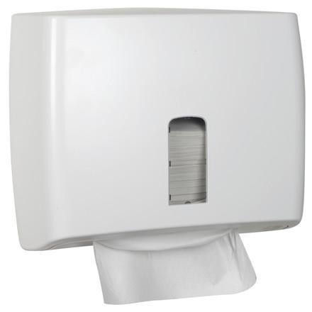 UDSOLGT Dispenser, White Classic, til nonstop håndklædeark, hvid, mini, 30,50 cm x