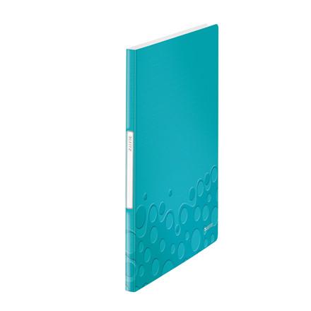 Leitz WOW demomappe A4 med 20 lommer - Isblå