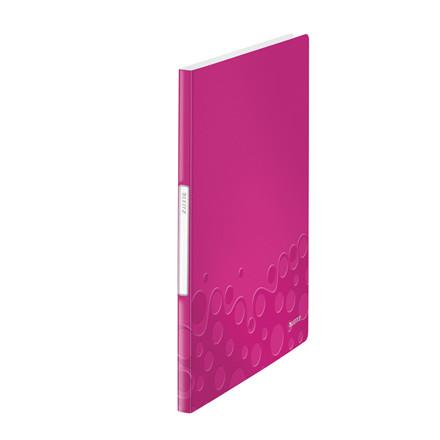 Leitz WOW demomappe A4 med 20 lommer - Pink