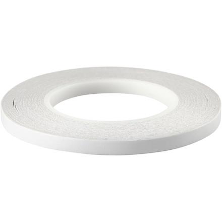 Dobbeltklæbende tape, B: 9 mm, 6x50m