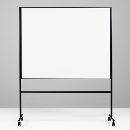 Dobbeltsidet mobiltavle - Lintex ONE 200 x 120 cm sort ramme og stativ