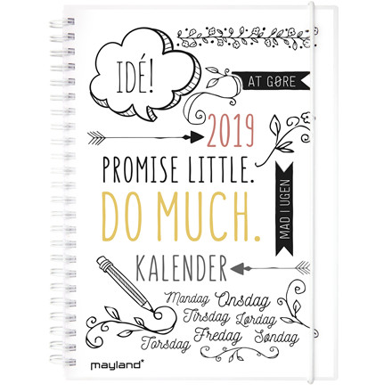 Doodle kalender Mayland 2019 A5 uge 15 x 21 cm højformat - 19 2270 00