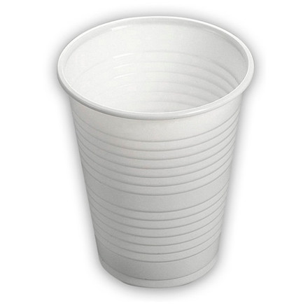 Plastikkrus 20cl hvid - 100 stk