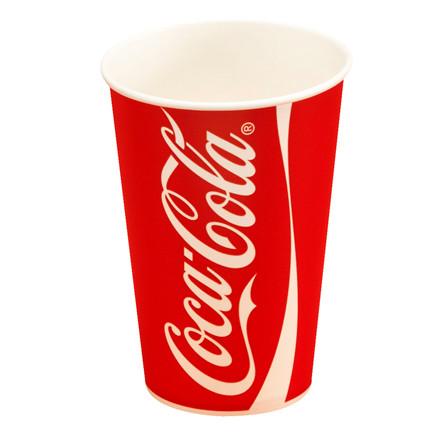 Papkrus - Coca Cola drikkebæger - 40 cl. - 1000 stk.