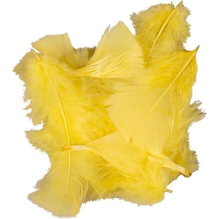 Dun størrelse 7-8 cm gul - 50 gram