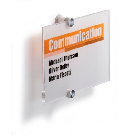 Durable CRYSTAL Sign - Skilt i klar akryl 210 x 148 mm