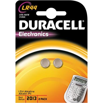 Duracell Batteri Electronics LR44 - 2 stk i pakken