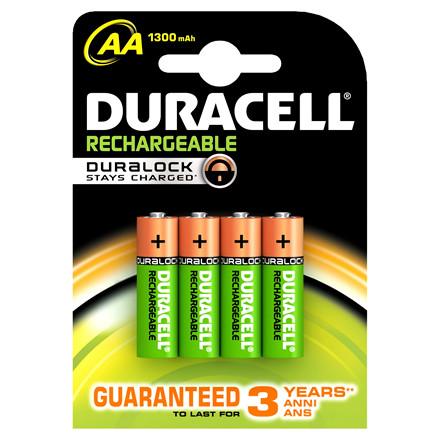Genopladelige batterier AA Duracell 1300 mAh - 4 stk. i pakken