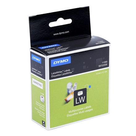 DYMO 11355 - Universallabel hvid 19 x 51 mm - 500 stk