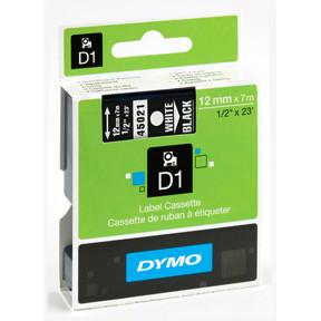 Dymo D1 tape 12mmx7m white/black