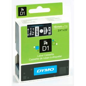 Dymo D1 tape 19mmx7m white/black