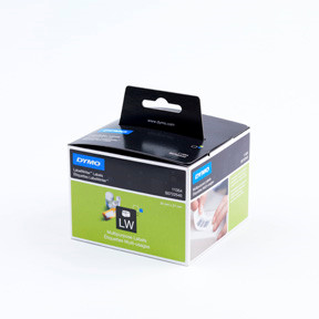 Dymo LW Multipurpose labels 32x57 removable white (1000)