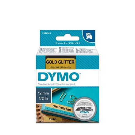 Dymo Tape D1 12mmx3m blank/guld