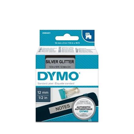Dymo Tape D1 12mmx3m blank/silver