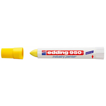 Edding 950 industry painter - Permanent marker gul 10 mm