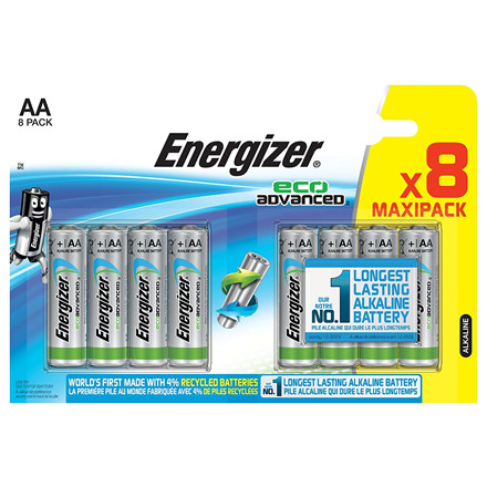 Energizer Eco Advanced AA Batterier - 8 stk