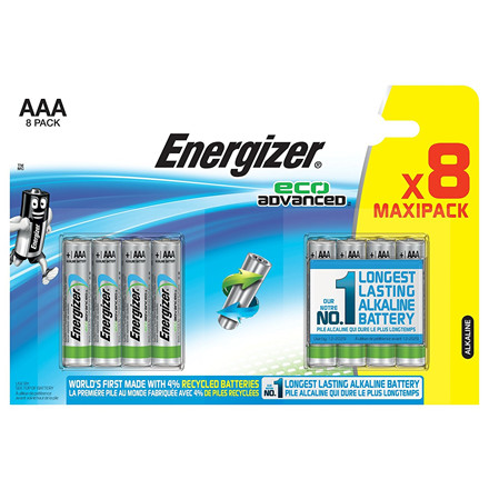 Energizer Eco Advanced AAA Batterier - 8 stk