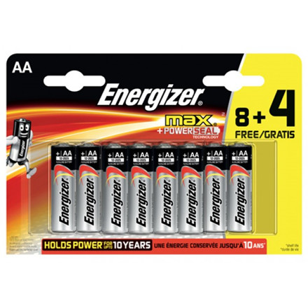Energizer MAX AA/E91 (8+4 pack)