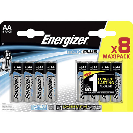 Energizer Max Plus AA/E91 (8-pack)