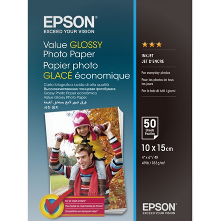Epson - 10 x 15 cm Value Photo Papir - 50 ark