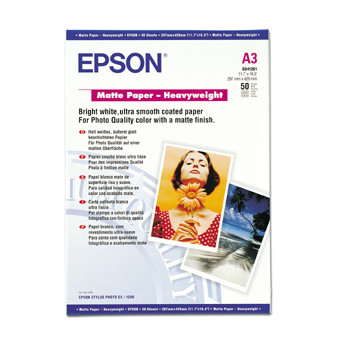 Epson - A3 167 gram mat papir heavyweight 50 ark