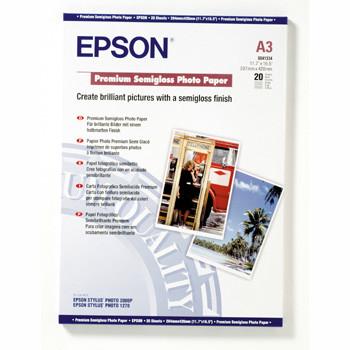 Epson - A3 251 gram Premium Semigloss Photo Papir 20 ark