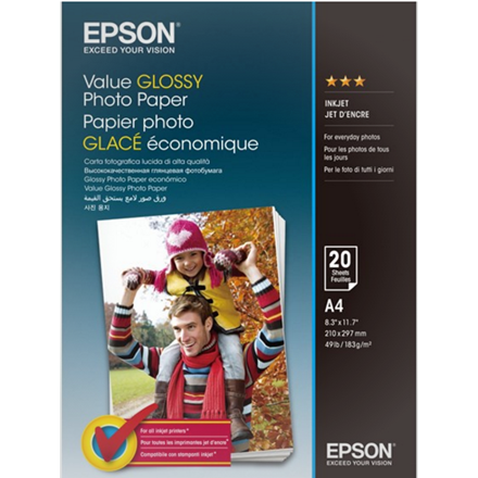 Epson - A4 Value Fotopapir - 20 ark