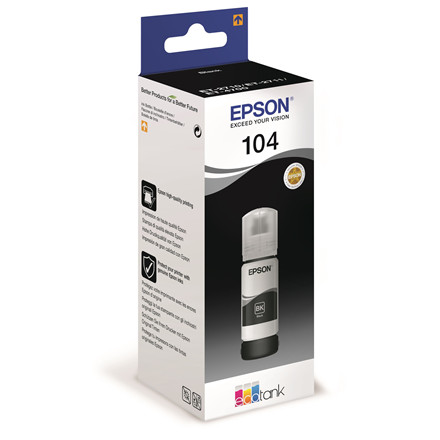 Epson T104 Black EcoTank ink