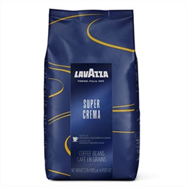 Espressobønner Lavazza Supercrema - 1 kg. i en pose