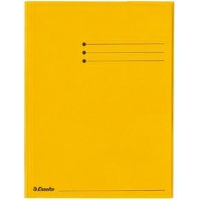 Esselte Folder 3 Flap Rainbow Card A4 yellow