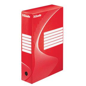 Esselte BOXY 80 arkivæske rød 35,5 x 24,5 x 8 cm - 128412