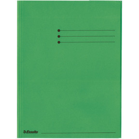 Esselte Folder 3-flap  Rainbow Card A4 green