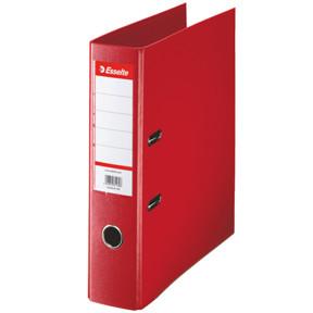 A4 brevordner Esselte Standard med 75 mm ryg - Rød