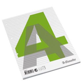 A4 Standardblok Esselte toplimet linieret - 100 ark med 4 arkivhuller