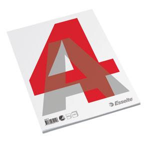 Standardblok A4 med 100 blanke sider toplimet - Esselte