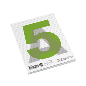 Esselte Glued pad A5 60g/100 sheets ruled