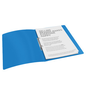 Ringbind A4 blå med 2 ringe og 25 mm ryg - Esselte Vivida 624031