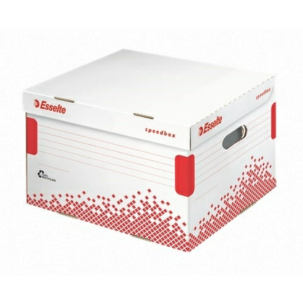 Arkivboks til brevordnere Esselte Speedbox hvid 39,2 x 30 x 33,4 cm - 623914