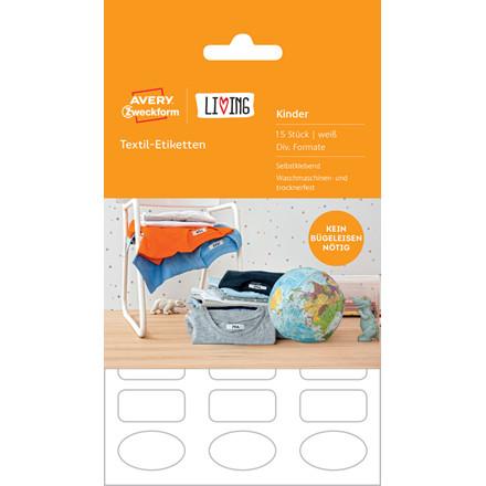 Avery 62033 - Labels til mærkning af tøj og tekstil - 15 stk