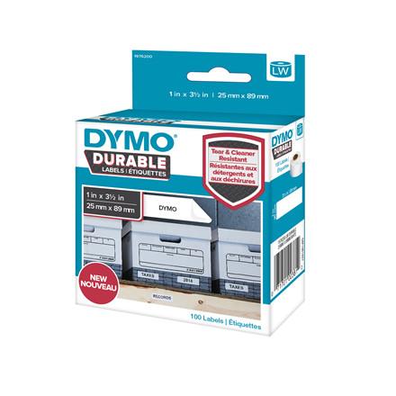 Etiket Dymo ekstra stærk 25x89mm 100stk/rul