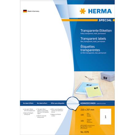 Etikett HERMA Special transp. A4 100/a
